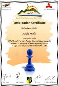 Marilie's Certificate